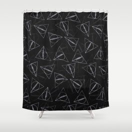 deathly hollow pattern Shower Curtain