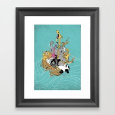 Hang On Tight! Framed Art Print