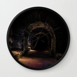In the dark tunnel Wall Clock