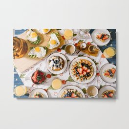 breakfast of champions #society6 #decor #buyart Metal Print
