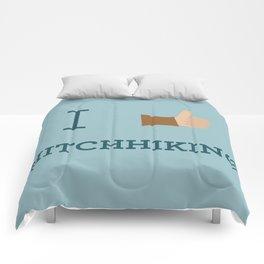 I heart Hitchhiking Comforters
