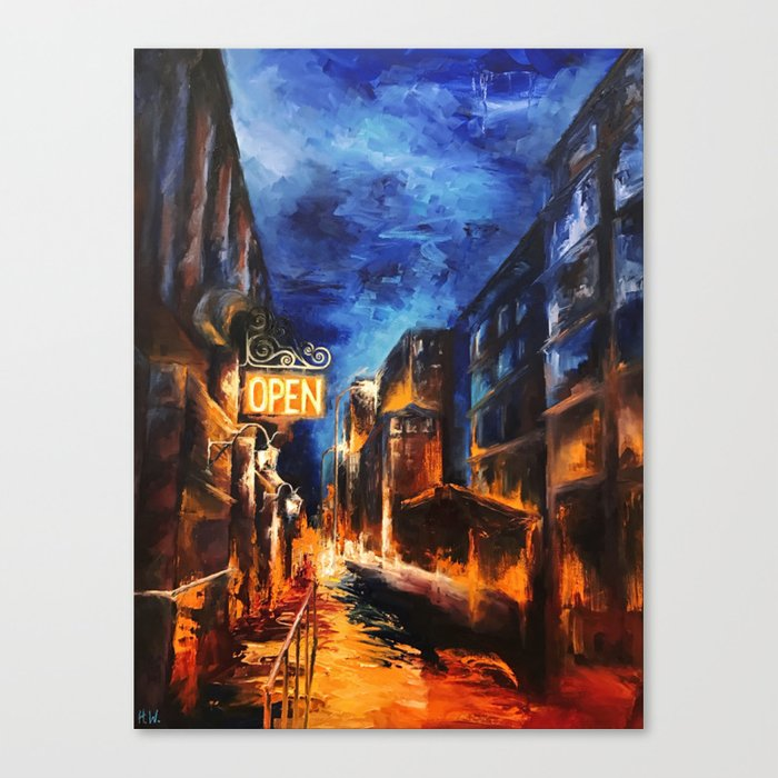 """""""Leaving New York"""" Painting Canvas Print"""