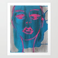 in the glaring - original painting by carina schubert Art Print