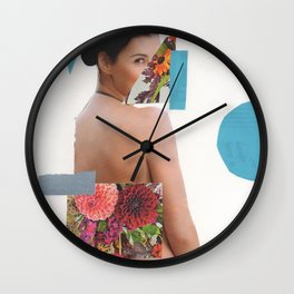 Looking Through Flowers Wall Clock