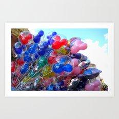 Disney Balloons Art Print