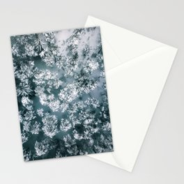 Winter Forest - Aerial Photography Stationery Cards