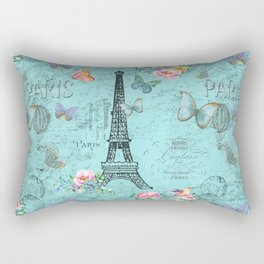 Paris - my blue love Rectangular Pillow