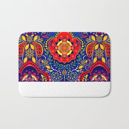 Bono Fantasy Pattern Red and Blue Bath Mat