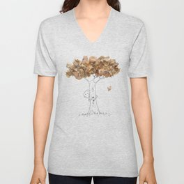 Pencil shavings tree Unisex V-Neck