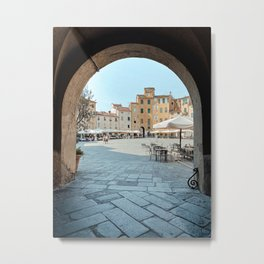 Lucca, Italy | Gateway to Piazza dell'Anfiteatro | Tuscany Art Print | City Architecture Photo Art Metal Print