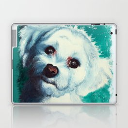 Maltese dog - Pelusa - by LiliFlore Laptop & iPad Skin