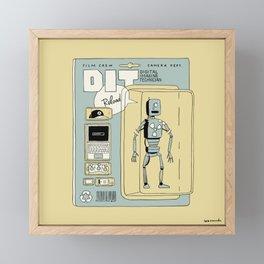 DIT action figure Framed Mini Art Print