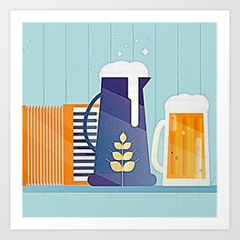German Beer Festival Modernist V2 Art Print