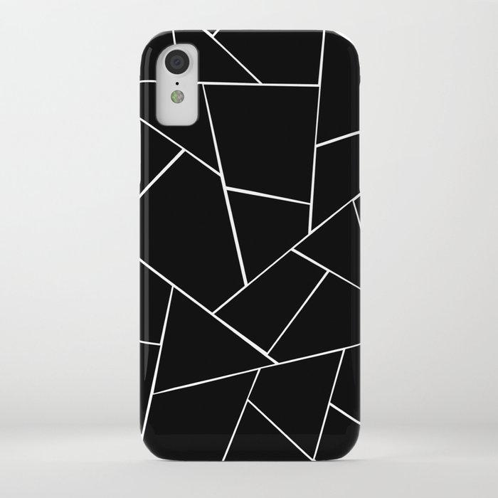 Black White Geometric Glam #2 #geo #decor #art #society6 iPhone Case