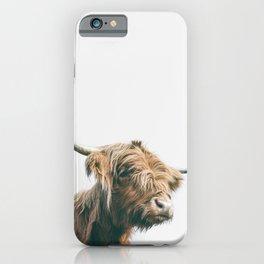 Majestic Highland cow portrait iPhone Case