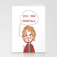 enjolras Stationery Cards featuring Enjolras Reminder by Antisepticbandaid
