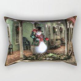 Snowman Greetings Rectangular Pillow