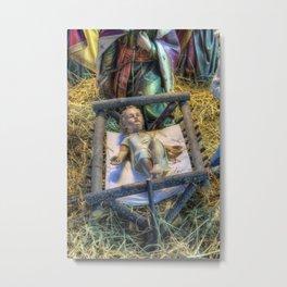 Away in a Manger Metal Print