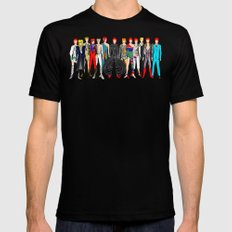 Red Bowie Group Fashion Outfits Mens Fitted Tee 2X-LARGE Black