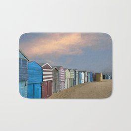 Beach Huts in Broadstairs Bath Mat