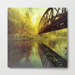 Bridge over untroubled water Metal Print