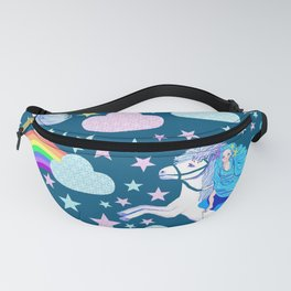 unicorn in the cloud, dreams of rainbows Fanny Pack