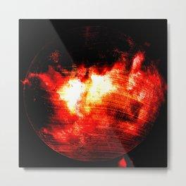 Planet explosion Metal Print