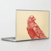 raven Laptop & iPad Skins featuring Red Raven  by Terry Fan