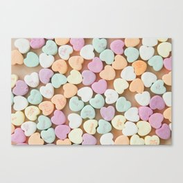 Valentine Candy Hearts Canvas Print