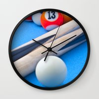 gaming Wall Clocks featuring Gaming Table by Valerie Paterson