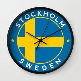 Sweden, Stockholm, circle Wall Clock