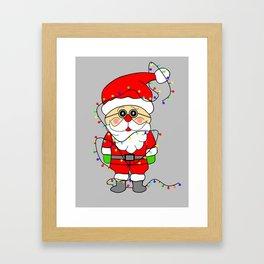 Silly Santa Framed Art Print