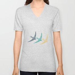 Bird Native birds songbird swallow gift Unisex V-Neck