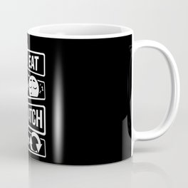 Eat Sleep Watch Repeat - TV Series Couch Binge Coffee Mug