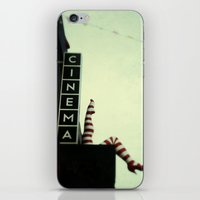 cinema iPhone & iPod Skins featuring Cinema by Cassia Beck