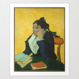 Vincent van Gogh - L'Arlésienne: Madame Joseph-Michel Ginoux (Marie Julien, 1848–1911) Art Print