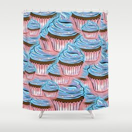 Lots of Cup Cakes Shower Curtain