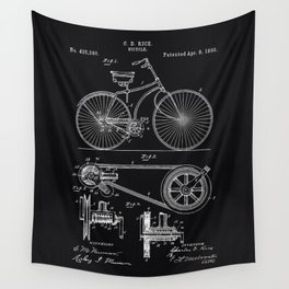 Vintage Bicycle patent illustration 1890 Wall Tapestry
