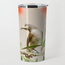 Australian Brown Honeyeater Bird. Travel Mug