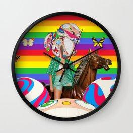 Butterflies & Cartoons Wall Clock