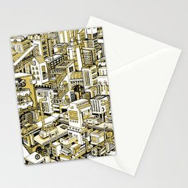 City Machine - Gold Stationery Cards