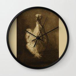 Silkie hen Wall Clock