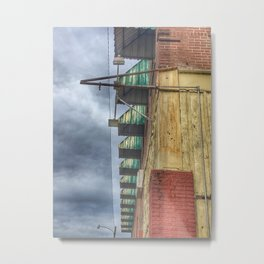 Green Awnings on a Building Metal Print