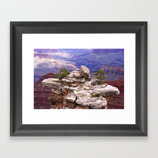 Grand Canyon's little island Framed Art Print