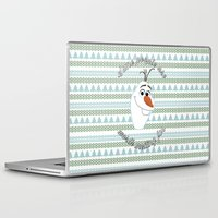 olaf Laptop & iPad Skins featuring Olaf the Snowman by Fox and Bunny Co.