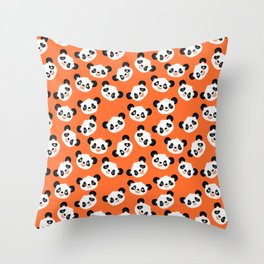 Happy Pandas Throw Pillow