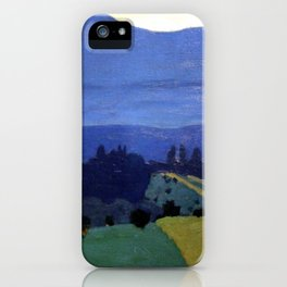 Felix Vallotton -  Landscape in the Jura Mountains (new color editing) iPhone Case