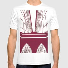 Brooklyn Bridge Mens Fitted Tee White MEDIUM