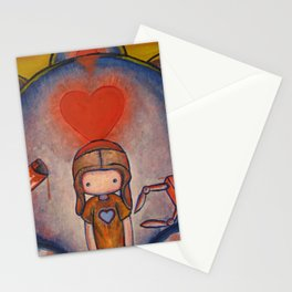The Robot Who Stole My Heart Stationery Cards