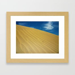 Waves Of Sand Framed Art Print